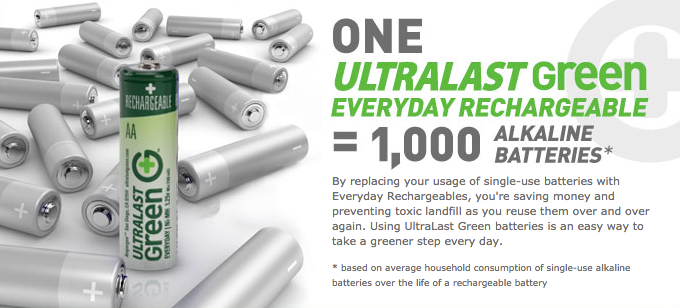 UltraLast Green battery